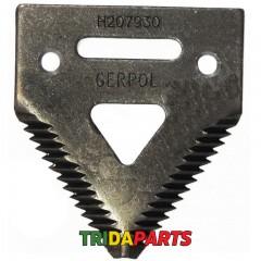 Сегмент коси жатки крупний зуб H207930