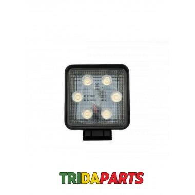 Фара додаткова LED 18W (6x3W Epistar) квадратна 1300lm, 9-32V (Flood)