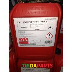 Масло Unifleet HDFE18 CI-4 15W40 20л. (AVIA) API CI-4, ACEA E7, Global DHD-1